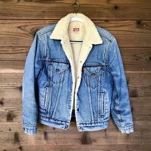 Vintage Levis San Francisco Sherpa Jean Jacket 36R